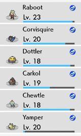 Level menu after battle