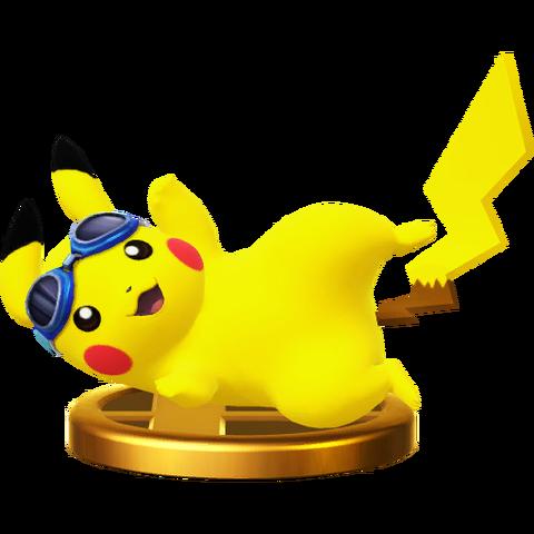 File:Pikachu (Alt.) trophy SSBWU.png