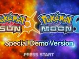 Pokémon Sun and Pokémon Moon Special Demo Version