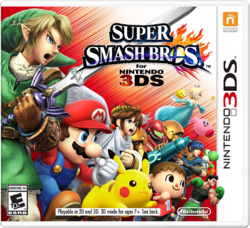 대난투 스매시브라더스 3DS 북미판 박스아트