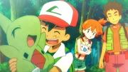 Ash and Larvitar flashback