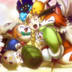Лили веселится с покемонами