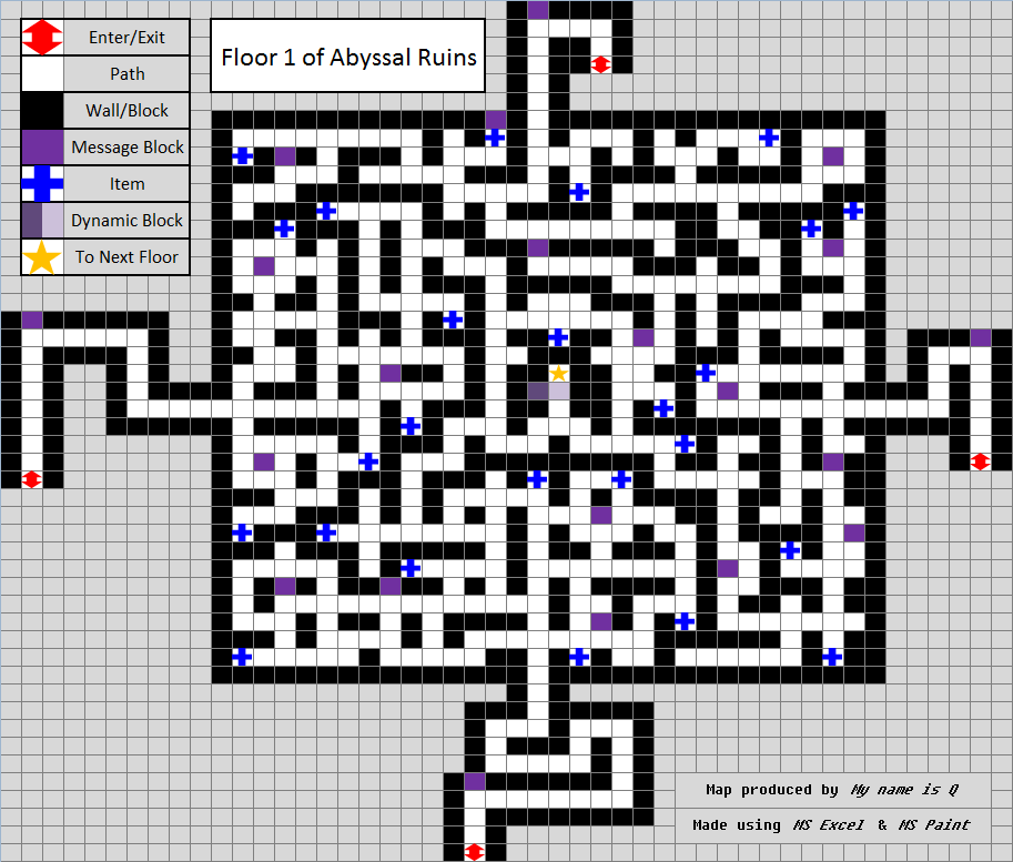 Abyssal ruins pokmon wiki fandom powered by wikia 1st floor map and items gumiabroncs Gallery