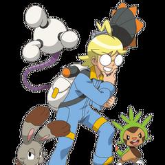 Клемонт и его верная команда покемонов
