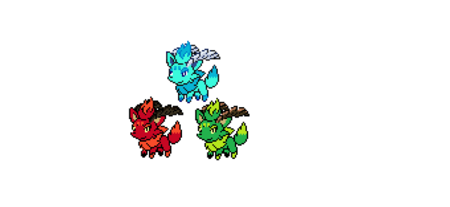 File:The Three Horned Zorua Starters.png