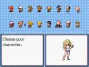 Characterselectionscreen
