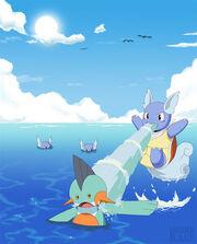 Pokemon Water Gun Attack by karnalux