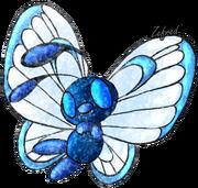 Blue butterfree logo