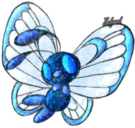 Blue butterfree logo