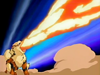 Tucker Arcanine Flamethrower