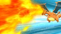 Ash Charizard Flamethrower
