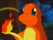 Percy Charmander using its flame on its tail