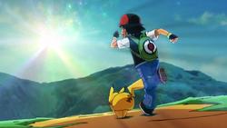 Ash Pikachu Running