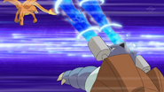 Hygor's Blastoise using Hydro Pump