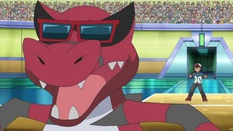 Ash's Krokorok Evolves Into Krookodile