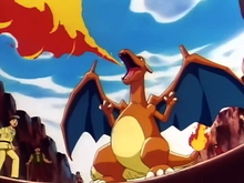 Ash Charizard newly evolved EP046