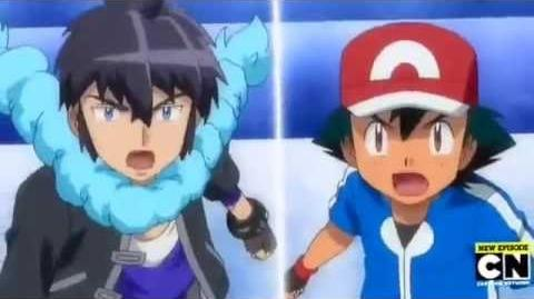 Ash Vs Alain Kalos League Final Battle Pokemon XYZ English Dub