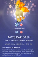 Rapidash Pokedex