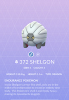 Shelgon Pokedex