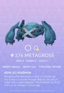 Metagross Pokedex