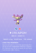 Aipom Pokedex