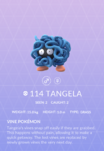 Tangela Pokedex