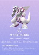 Palkia Pokedex