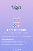 Geodude Alolan Pokedex