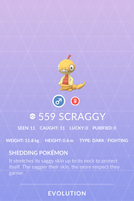 Scraggy Pokedex