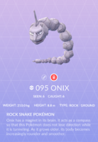 Onix Pokedex