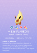 Flareon Pokedex