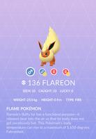 Flareon Pokedex