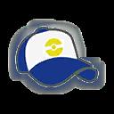 Hat F Blue White