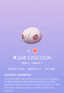Cascoon Pokedex