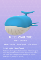 Wailord Pokedex