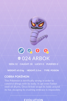 Arbok Pokedex