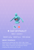 Wynaut Pokedex