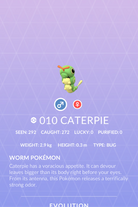 Caterpie Pokedex