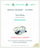Raid invitation template