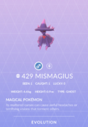 Mismagius Pokedex