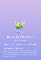 Dunsparce Pokedex