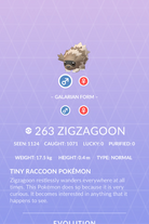 Zigzagoon Pokedex