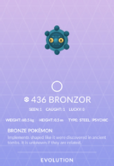 Bronzor Pokedex