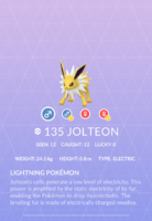 Jolteon Pokedex