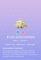Shroomish Pokedex