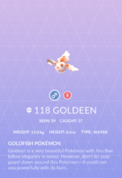 Goldeen Pokedex
