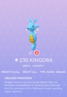 Kingdra Pokedex