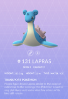 Lapras Pokedex