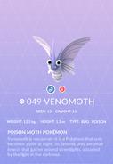 Venomoth Pokedex