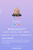 Diglett Alolan Pokedex